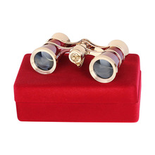 AOMEKIE 3X25 Binoculars for Theater Opera Watching with Gift Box HD Optical Glass Lens Telescope Retro Design Women Girls