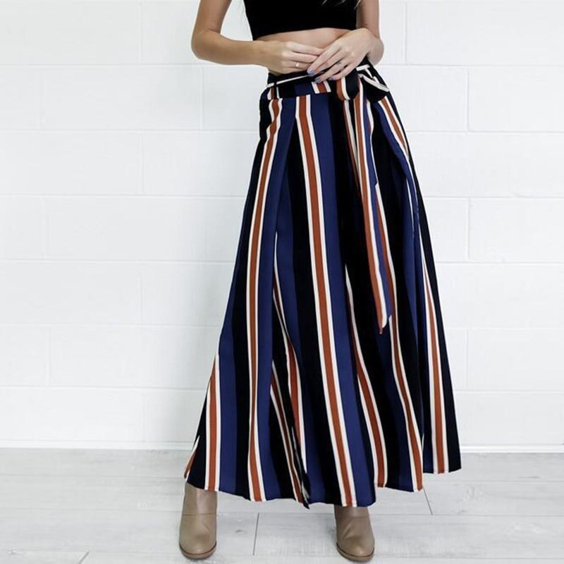 Women   Wide     Leg     Pants   Casual Comfortable Striped   Pants   Fashion Summer   Pants