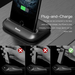 Image 2 - Baseus Desktop Docking Usb Charger For iPhone Sync Data Desktop Charging Dock Station For iPhone Data Transmision Fast Charging