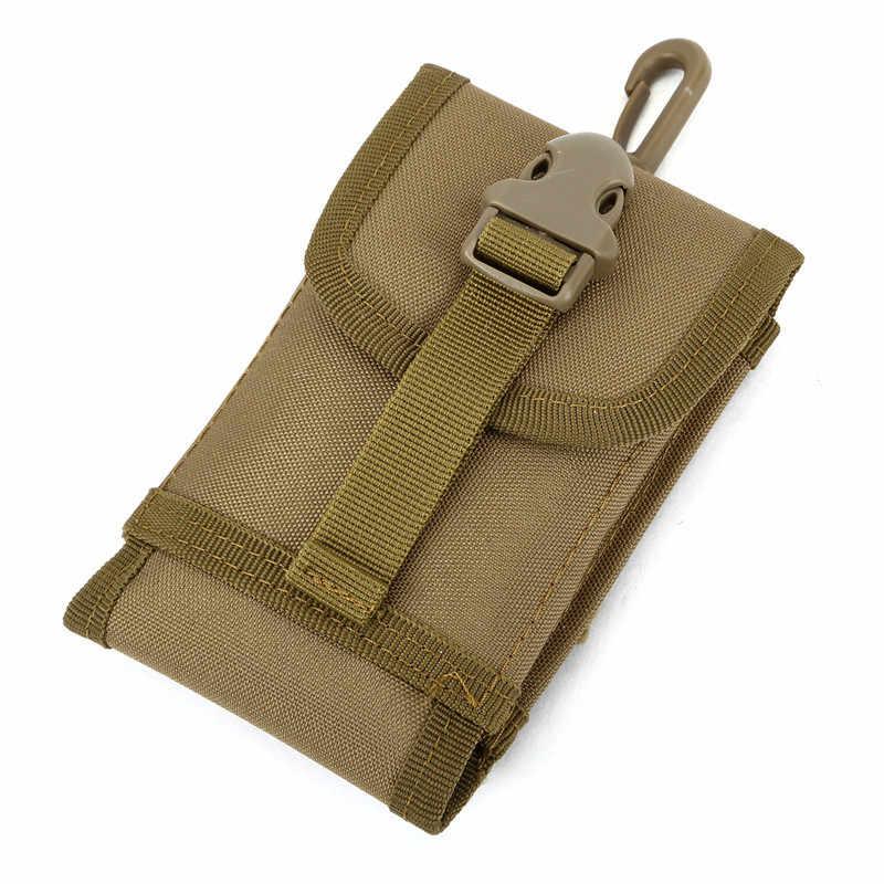 Suporte Do Telefone móvel Do Exército ao ar livre Camuflagem Saco Tático Pacote de Cintura Esporte Cinto Caso À Prova D' Água Bolsa de Nylon sacos de Caça Camo