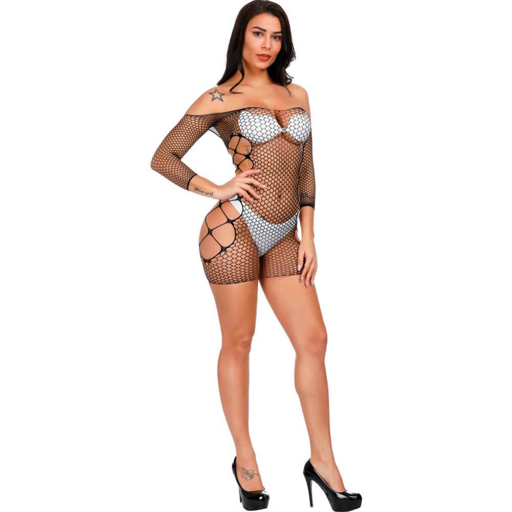 Phụ nữ Đồ Lót Sexy Off vai Fishnet Ăn Mặc Phụ Nữ Búp Bê Đồ Lót Đồ Lót Nóng Khiêu Dâm Langrie Đàn Hồi Sexy Trang Phục Lenceria Mujer