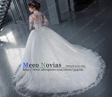 vestidos de noiva estilo princesa Ball Gown Long Sleeve Wedding Dress Tulle Vintage Wedding Dress Robe De Mariage Bridal Gowns