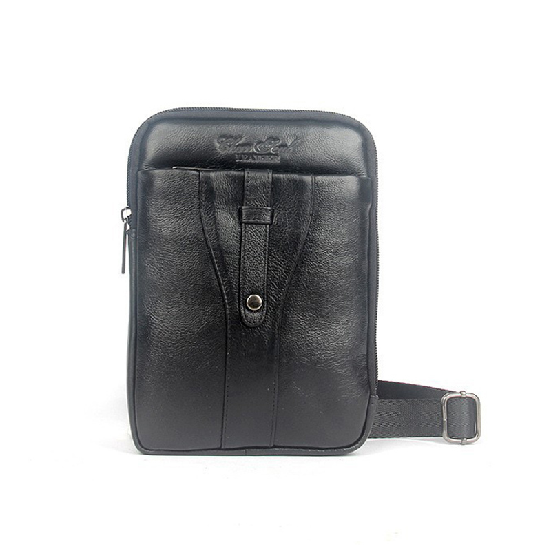 2015 new genuine leather messenger bags for men small casual cowhide men shoulder bag with high quality man chest pack waist bag