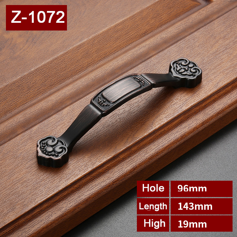 Antique  Zinc Alloy handles for furniture  Kitchen Cabinet Door Wardrobe Handles   Simple  Furniture Handle  Z-1071 1pc simple european aluminum alloy ivory white door handles