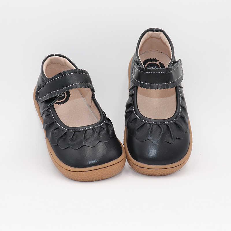 Tipsietoes เด็ก 2019 เด็กวัยหัดเดินของแท้รองเท้าหนังรองเท้าผ้าใบเด็กผู้หญิงเด็ก Causal Barefoot แฟชั่นจัดส่งฟรี