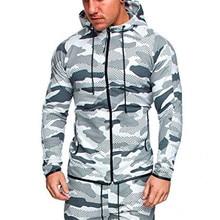 2019 New Camouflage Coats Men Hooded Cardigans Hoodies SweatshirtsTops Sweatshirt Plus Size