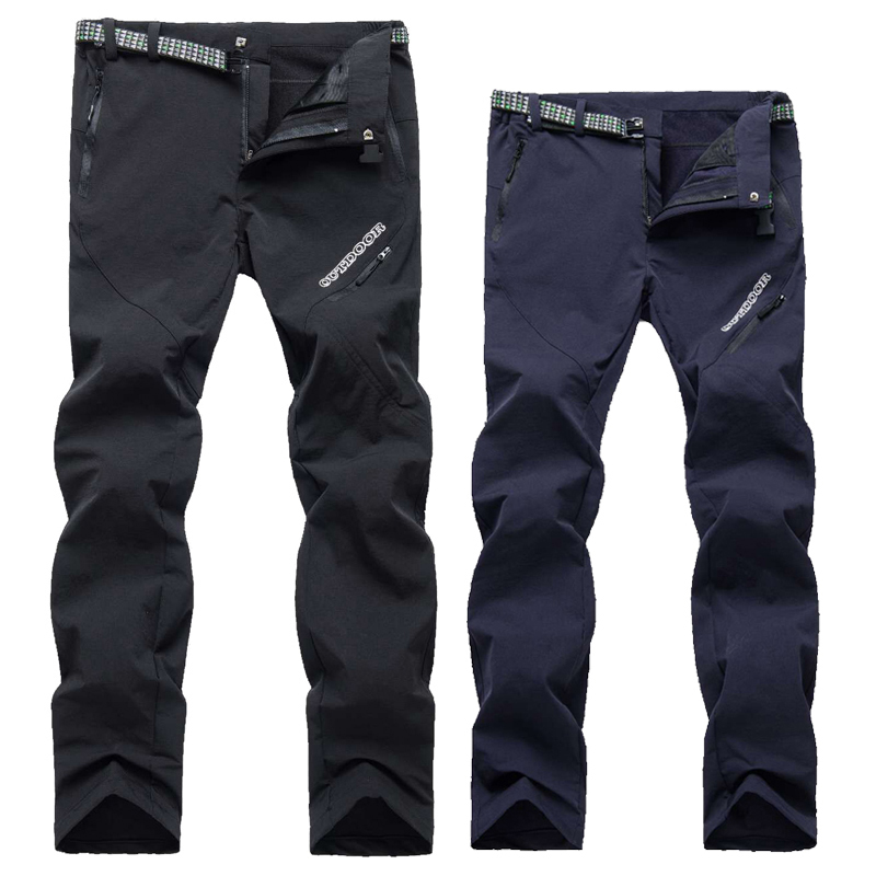 2019 Male Female Outdoor Sports Waterproof Windproof Stretch Hiking Trousers Anti-UV Breathable Quick-drying Pants Fishing Pants