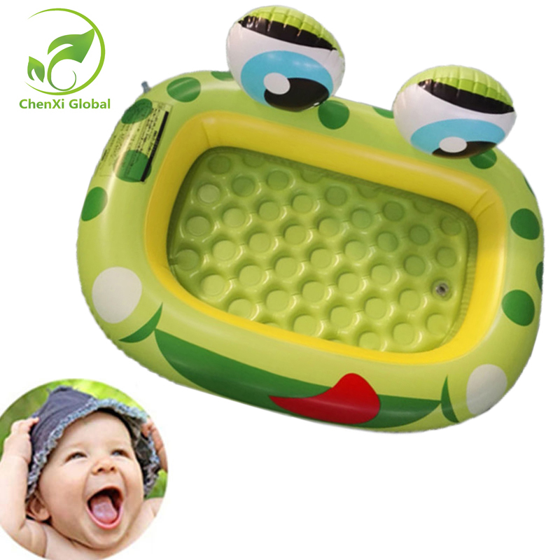 Baby Swimming Circle Cartoon Frog Inflatable Pool Friendly PVC Piscina Gift For Kids for Babies Summer Toy dual slide portable baby swimming pool pvc inflatable pool babies child eco friendly piscina transparent infant swimming pools