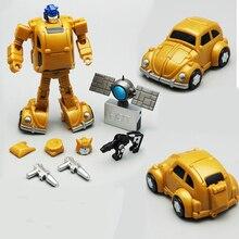 все цены на Lensple Transformation Planet Hot Soldiers HS13 Digibash Goldbug mini mp21 mp-21 Robots Action Figure Toy онлайн