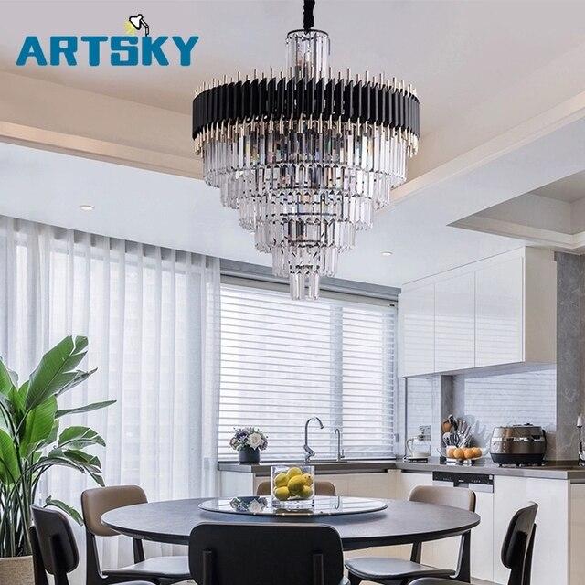 Luz de cristal perfecto araña comedor lámpara mesa Bar Club nórdico moderno  decorativo Led lámparas