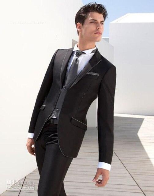 Black tuxedos 2018 hot sale Notch Lapel tuxedos for men white ...