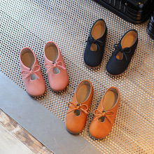 genuine leather soft shoes 2017 spring 100% leather soft leather men and women leather surface waterproof kids girl princess