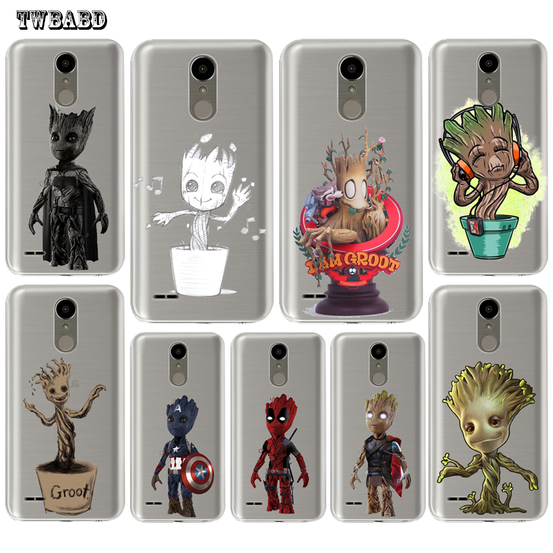 Guardians of the Galaxy Cute Groot case For LG Q6 Q8 G4 G5 G6 K4 K7 K8 K10 2017 X Screen Power 2 Soft TPU shell for LG K4