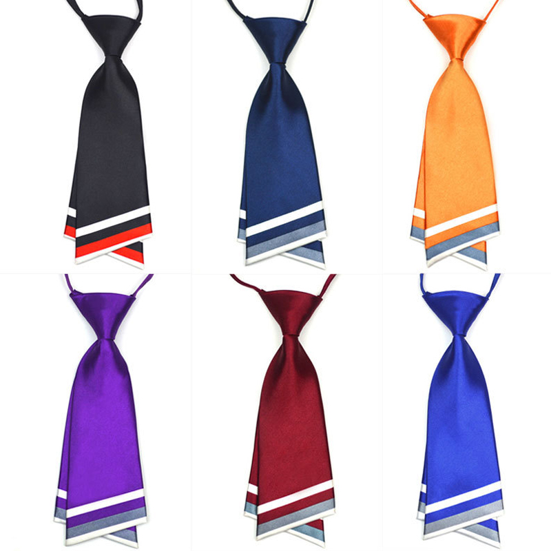 Sale Stripe Double-layer Knife Tie For Women Men Waitress West Assembly Accessories Girls Boys Tie Wholesale
