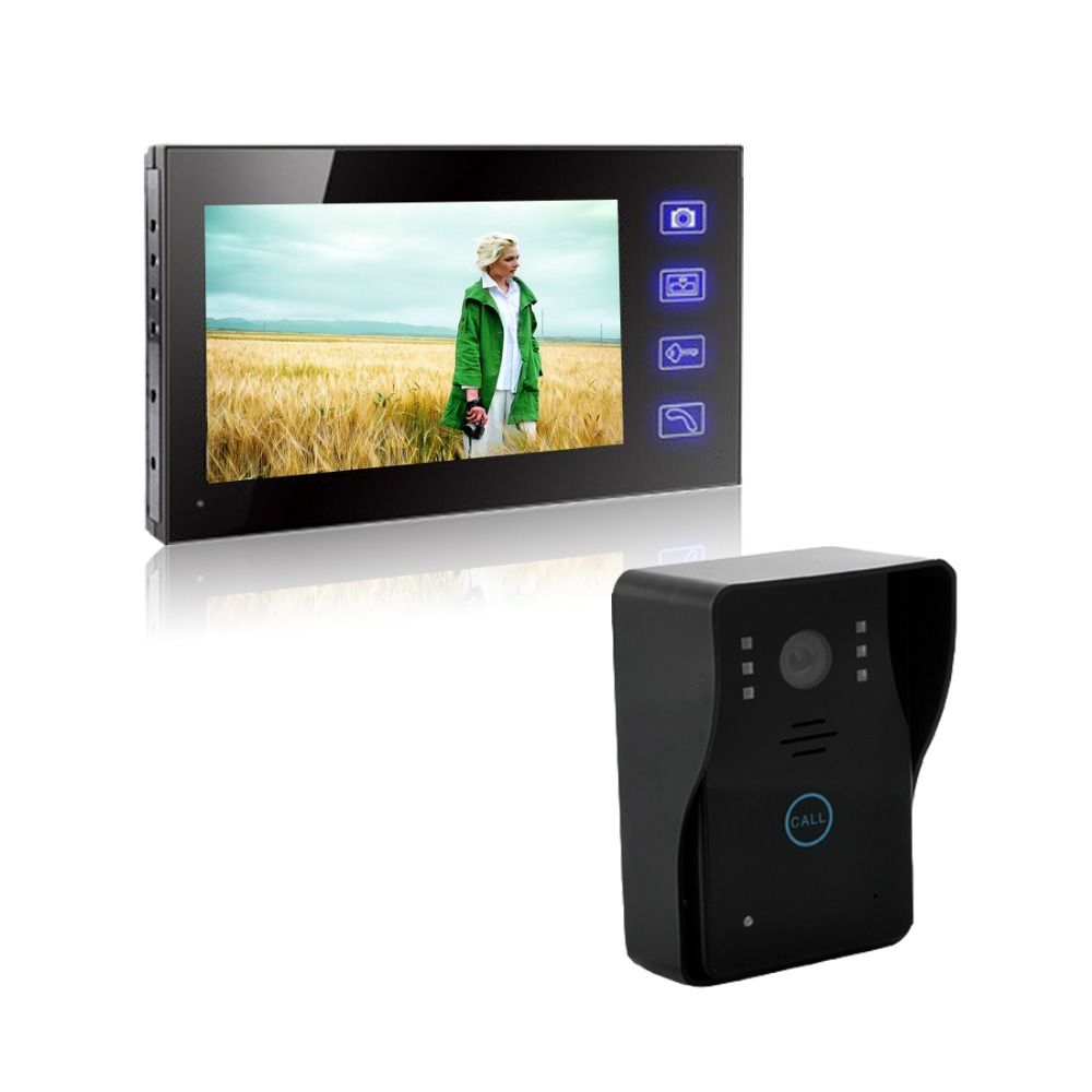 7 inch wireless intercom visual building intercom video doorbell phone Villa door intercom equipment Remote open electronic lock