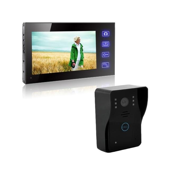 7 inch wireless visual building intercom doorbell phone Villa door intercom equipment Remote open electronic lock function