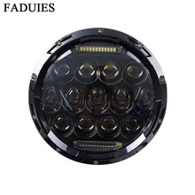 "7 FADUIES ""farol da motocicleta preto alta baixa feixe 7 polegada Rodada daymaker led Head light head lamp DRL Para harley motocicleta"