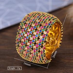 Image 5 - Godki luxo zircônia cúbica anéis de casamento para mulheres nupcial noivado casamento jóias cz femmale acessórios dedo inteiro anéis