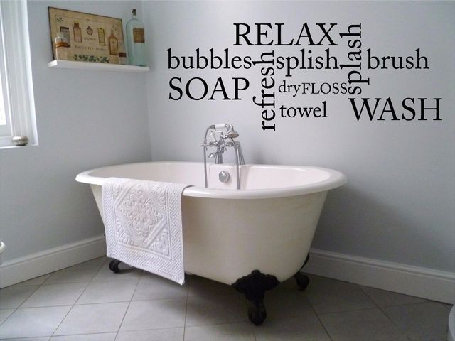 bubbles soap relax wash bathroom wall decal cute funny room bath vinyl sticker