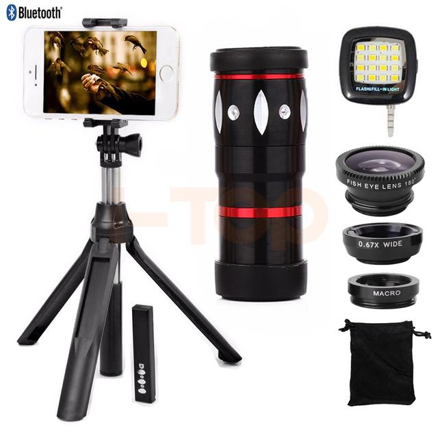 Clips universal 10x zoom telefoto lente do telescópio zoom para iphone samsung xiaomi telefone celular lente olho de peixe grande angular macro lentes