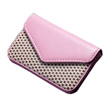 Wholesale Card Holder PU Leather Business For Female Bank&Credit Rfid Wallet Auto Documents Case