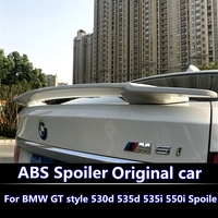 For BMW 5 GT Spoiler high quality ABS Material Car Rear Wing Primer Color Rear Spoiler For BMW GT 530d 535d 535i 550i Spoiler