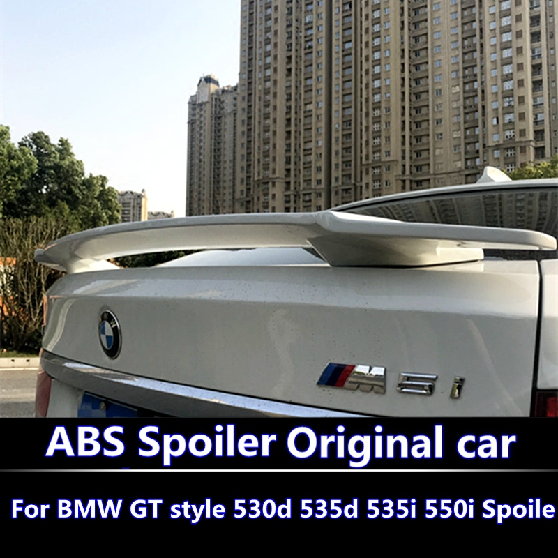For <font><b>BMW</b></font> 5 <font><b>GT</b></font> <font><b>Spoiler</b></font> high quality ABS Material Car Rear Wing Primer Color Rear <font><b>Spoiler</b></font> For <font><b>BMW</b></font> <font><b>GT</b></font> 530d 535d 535i 550i <font><b>Spoiler</b></font> image