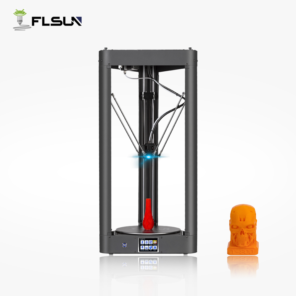 2019 Lattice Glass FLSUN QQ S 3D Printer All metal Large Printing Size Pre assembly High Speed Touch Screen WIFI filament