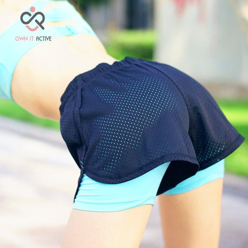 <+>  10 цвет Фитнес Спортивные Шорты Женщины Mujer Бег Женщины Ropa Женские Короткие Femme Шорты Женщины  ✔