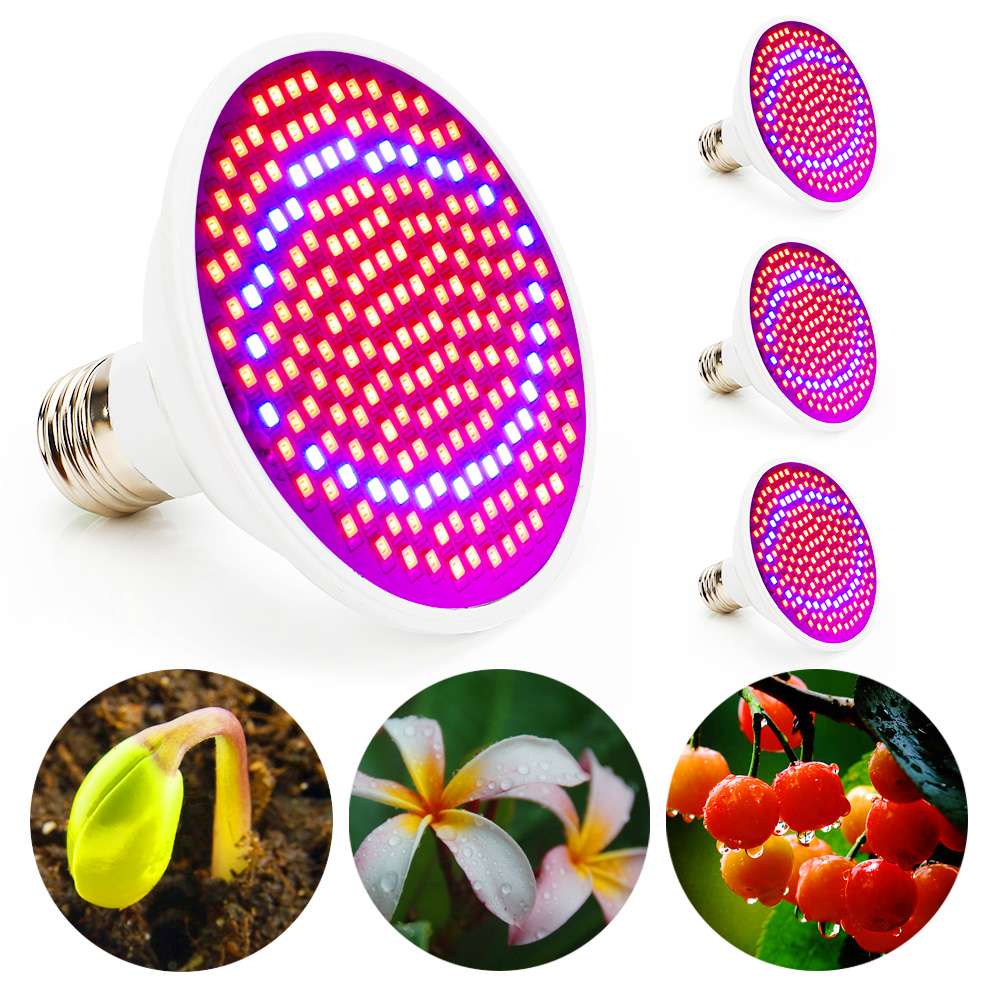 4pcs/lot 20w Grow Led Full Spectrum E27 Led Grow Light Industrial Led Lamp For Indoor Growing System Greenhouse