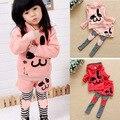 Детские девушки костюмы тренировочный костюм кролика топы + брюки одежду с длинным рукавом 2 шт. 1-6Y