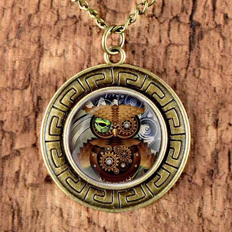 New Fashion Punk Owl Women Necklace Retro Bronze Steampunk Pendant Vintage  Jewelry Gift 11bcb93f40107