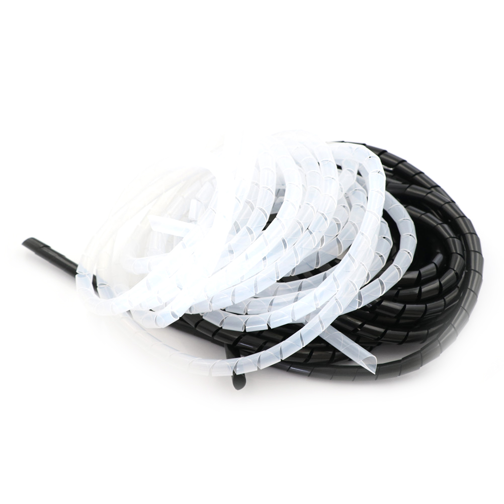 2M 25mm Spiral Wire Organizer Wrap Tube Cable Spiral Wrap Tidy Cord ...