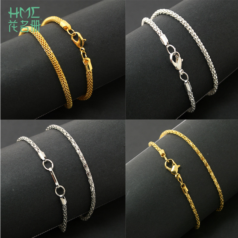 DIY Stainless Steel Ball Bead Chain Nickel Plated Ball Chain Necklace 3mm Bead Adjustable Metal Pull Chain Extension Beaded Chain with Matching Connector Jewelry Findings