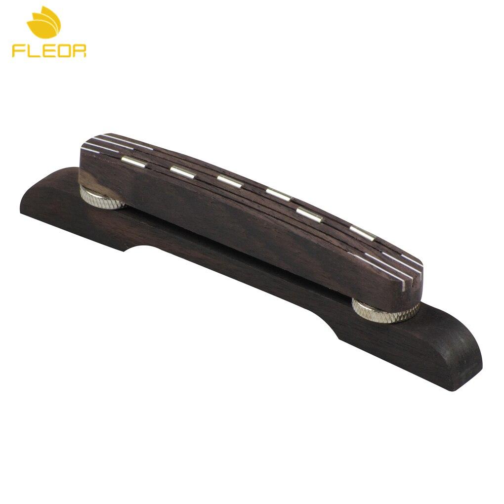 fleor height adjustable guitar bridge floating bridge rosewood for 6 string archtop jazz guitar. Black Bedroom Furniture Sets. Home Design Ideas