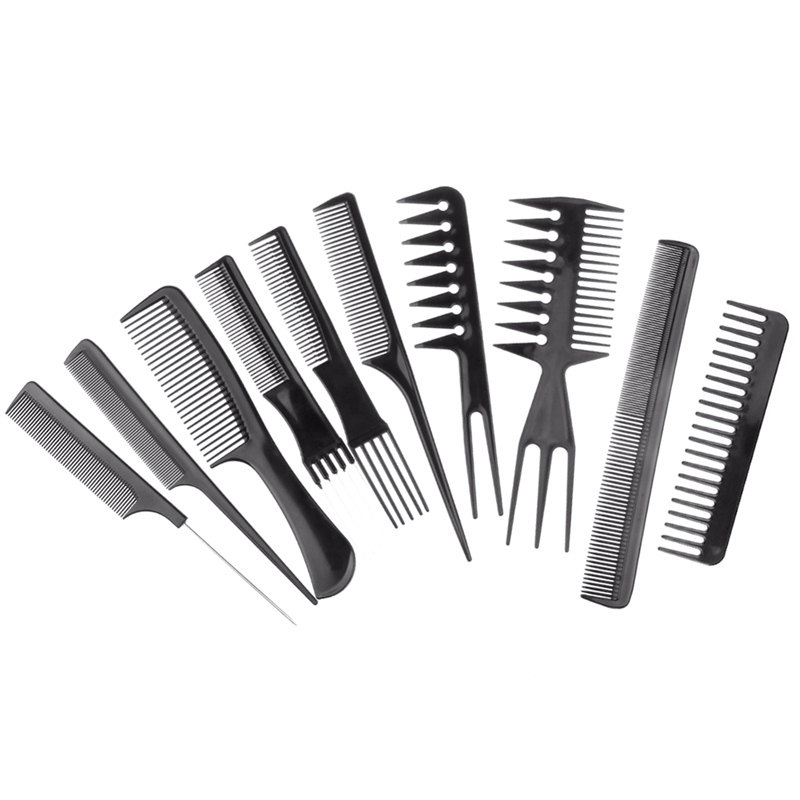 NewView Hairdressing Comb Professional Hair Cutting Comb Set Tail Comb For Barber Hairdresser Styling Tools Salon 10pcs/set 4pcs hair twist styling tools clip stick bun maker braid tools comb pull hair pins hair accessories hairdressing for women girls