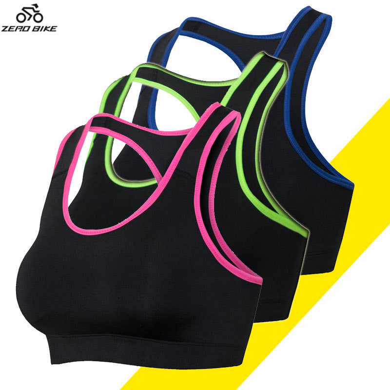 ZEROBIKE High Quality Womens Sports Vest Bra Yoga Running Cycling Clothing Top Base Layer Hot Sales