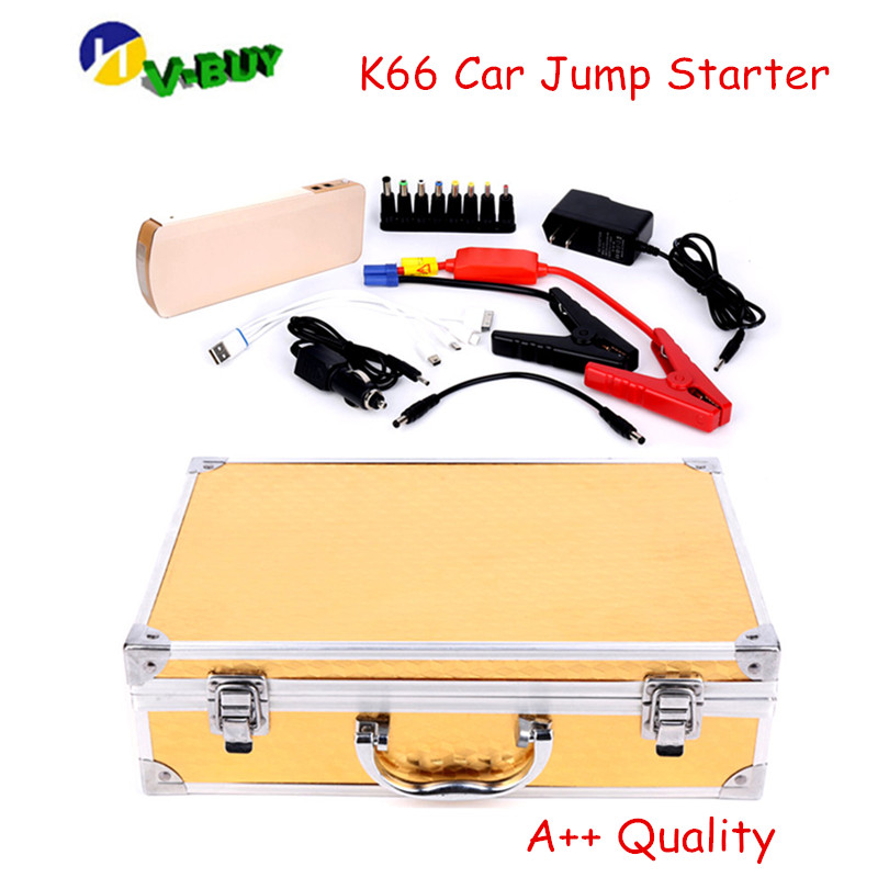 Best Quality K66 Car Jump Starter Portable Power Bank Car Power Jump Starter with Multi function + Good Carry Case