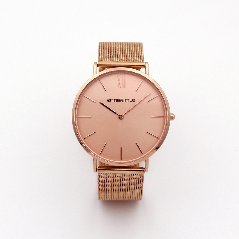 Luxury Brand 2 hands Watch Men Fashion Casual Rose Gold Quartz Watches Women Metal Mesh Stainless Steel Dress Wristwatches Reloj onlyou luxury brand fashion watch women men business quartz watch stainless steel lovers wristwatches ladies dress watch 6903
