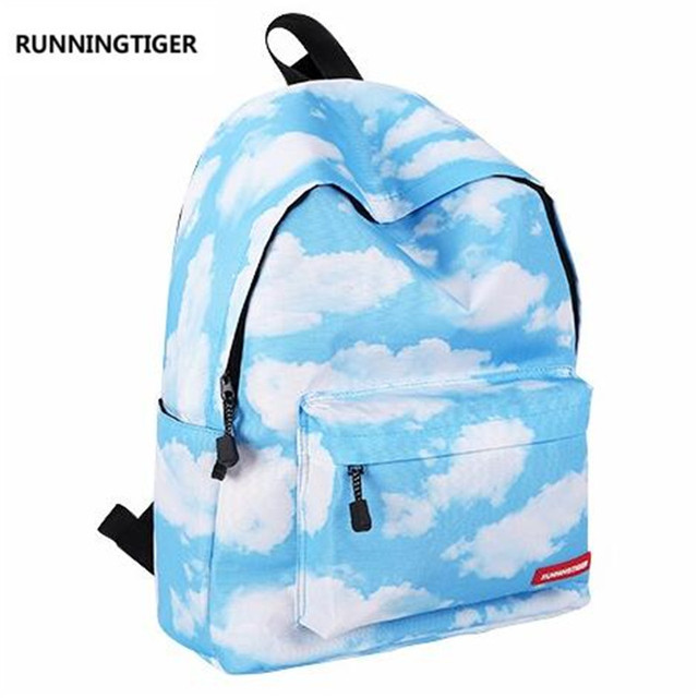 8d8e141e1caf mochilas mujer 2016 Blue Sky Cloud Printing Backpack Women Laptop Backpack  Children Backpacks For Teenage Girls School Bags