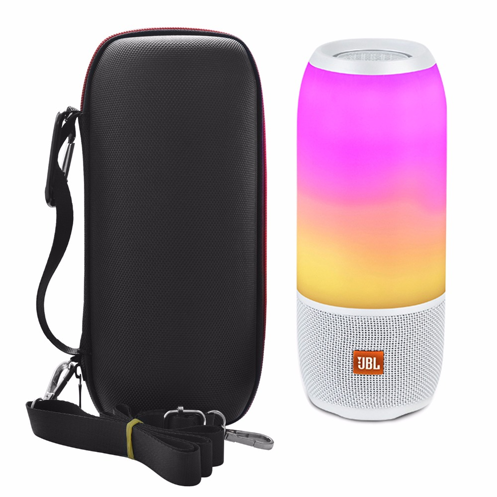 Newest PU Carry Protective Speaker Box Pouch Cover Bag Case For JBL Pulse 3 Pulse3 Wireless Bluetooth Speaker HandBag(With Belt)|Speaker Accessories| |  - title=