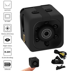 Small Dashboard Camera 480P Rotatable Adjustable Intelligent Motion Detection Night Vision Recorder Camcorder DV