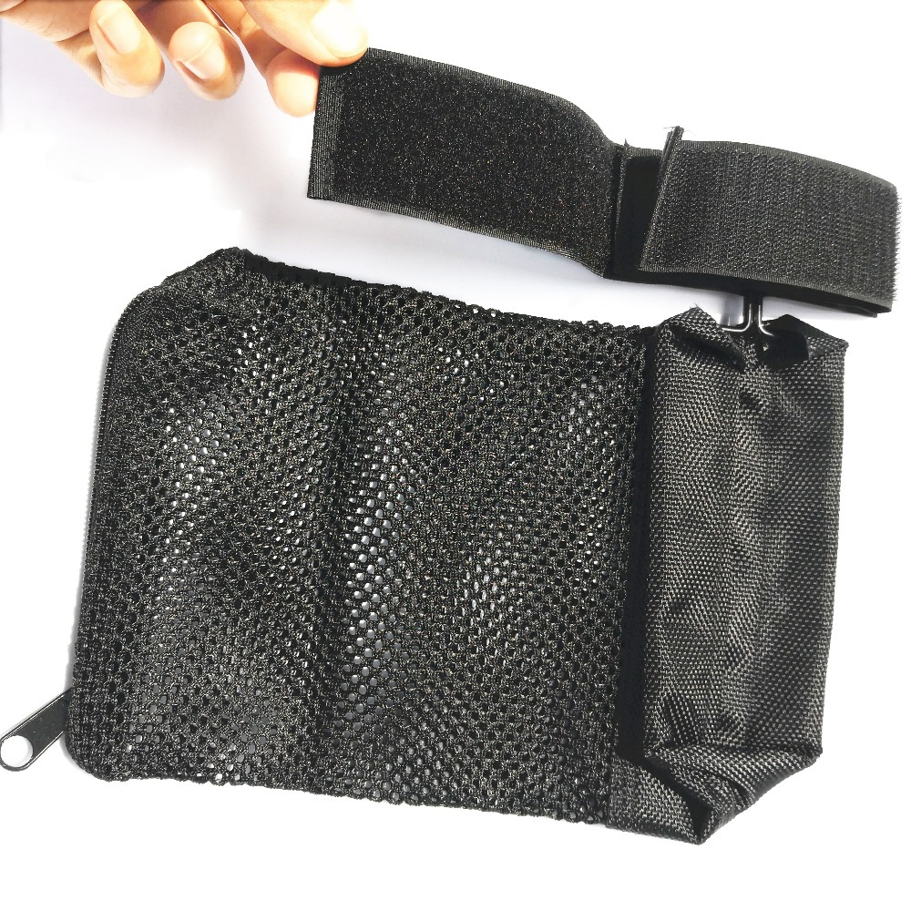Image 5 - Tactical Rifle Brass Shell Catcher Quick Release AR15 Ammo Mesh Trap Nylon Mesh Bag Capture Black .223 / 5.56-in Pouches from Sports & Entertainment