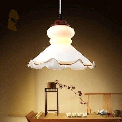 Европейский творческий flouncy белые стеклянные подвесные светильники Мода минималистский прозрачный светильники для лестниц и крыльцо и двор и коридор ZLDD059