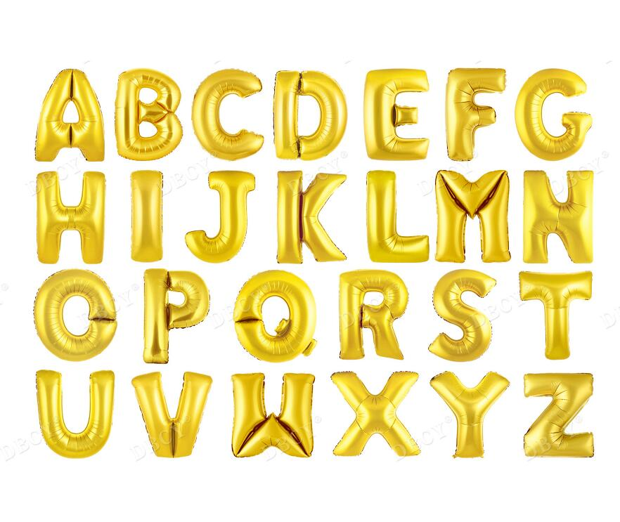 gold foil letters large size 40 quot a z letters gold foil balloon for wedding 21958