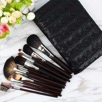 high quality waterprofbag 16pcs animal hair powder make up brush kits kolinsky hair brushes