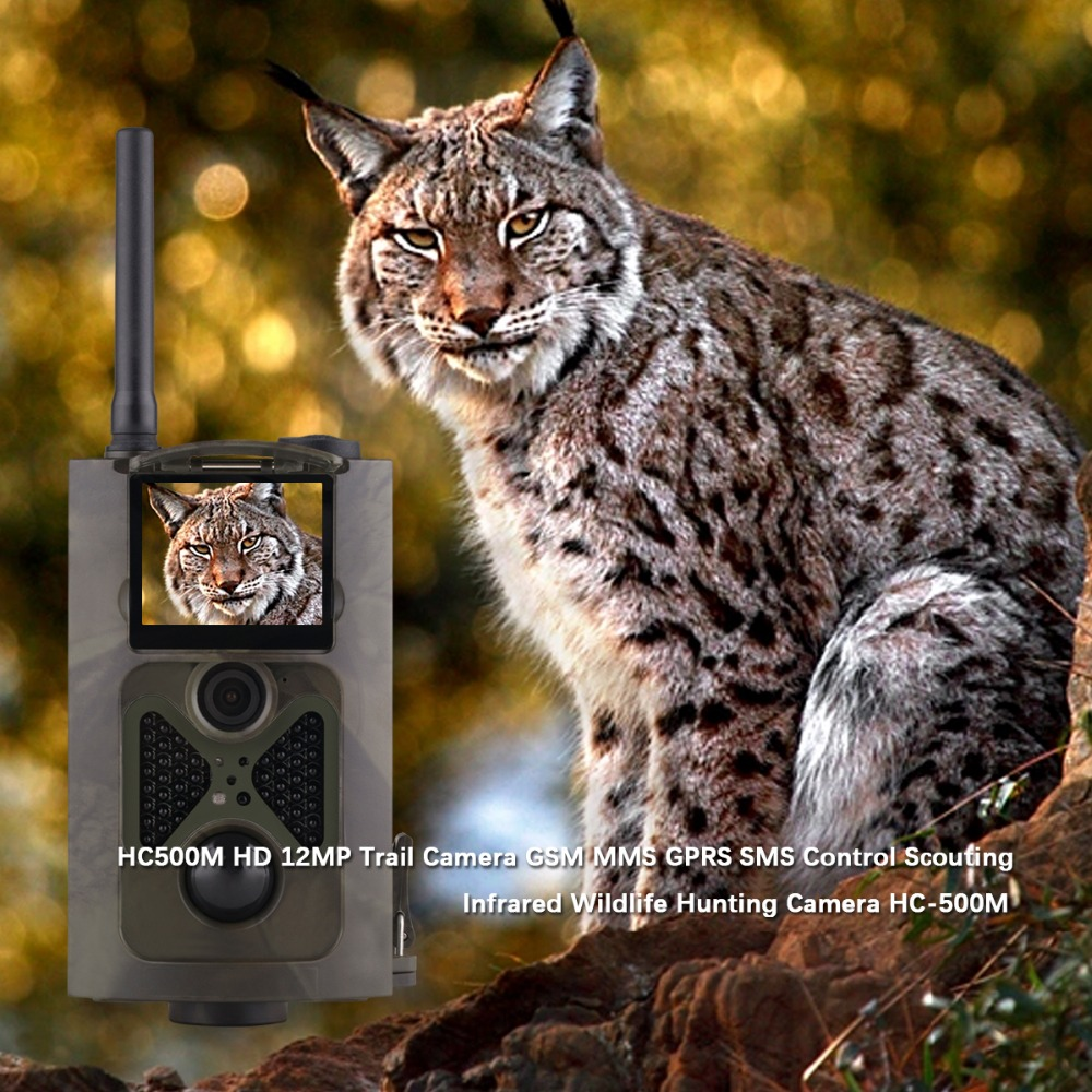 Suntek hc-500m hunting trail camera Video Animal Traps Photo-Traps MMS/SMS/GPRS/SMTP IR LED  hunting cameras for Animal hunting hot hd12mp 36 black ir led mms outdoor waterproof trail huntingcamera for suntek hc 300m safety iron boxes free shipping