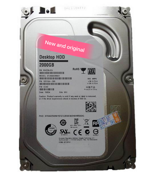 100%New In box 3 year warranty <font><b>ST2000DM001</b></font> 2TB 64MB SATA3 Need more angles photos, please contact me image