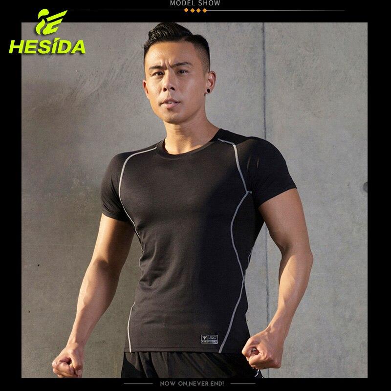Quick Dry Running Top Shirts Man Compression Fitness Shirt Men Training Workout Tight Gym Sportwear Men's Short Sleeve t-shirts