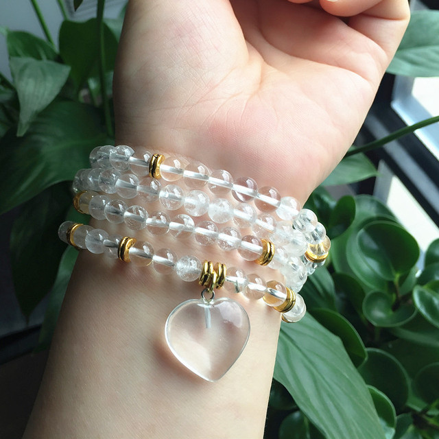 Bracelet Collier Mala Cristal De Roche